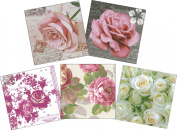 Djanti decoupage paper napkins colour & pattern Random 15-sheet set (5 handle each of the three pieces) Rose CL-NC35