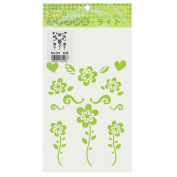 Mabi seal type stencil light flowers