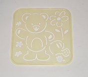 Tupperware Stencil Art Replacement Tiwi Bear Flower Watering Can Leaves #4656
