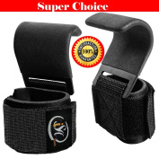 Power Weight Lifting Hooks Training Gym Straps Hook Bar Wrist Supports Lift Gloves