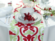Alex Red & Green Table Runner
