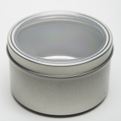 470ml Applause Magnetic Round Spice and Food Storage Tin - Set of 4