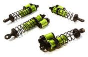 Integy RC Hobby C26458GREEN Billet Machined Piggyback Shock Set for 1/10 Traxxas Rustler & Bandit VXL