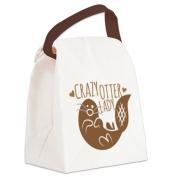 CafePress Canvas Lunch Bag - Crazy Otter Lady Canvas Lunch Bag - Khaki