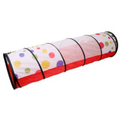 TOOGOO(R) Kid Play Pop Up Tent Find Me Tunnel For Child Red + White Dot