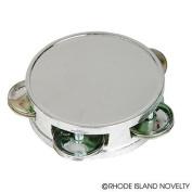 Silver Tamborines 7.6cm Set of 12