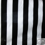 Stripe Extra-Large Black White Poly Cotton 150cm Fabric By the Yard
