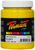 Super Cover Screenprinting Ink - Yellow R Permaset Aqua Fabric Magic 300ML