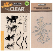 Hero Arts - Colour Layering Goldfish - Stamp and Die Set