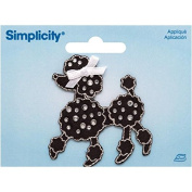 Wrights Jewelled Black Poodle with Rhinestones Iron-On Applique, 5.1cm by 5.7cm , 1-Pack
