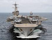USS George H.W. Bush (CVN 77) is underway during Saxon Warrior