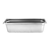 15cm Deep, Half Size Long Standard Weight Stainless Steel Steam Table / Hotel Pan Anti-Jam