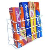 Evelots Metal Wrap Storage Rack, Kitchen Organiser & Cupboard Space Saver, White