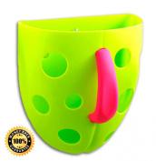 Lulu Baby Bath Toys Organiser- Green/ Pink Handle