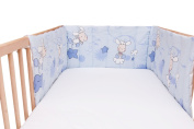 Baby Happy Lambs (Blue) / SoulBedroom Cotton Cot Bumper Pad Half