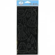 Kitchen Time Peel-Off Stickers-Black