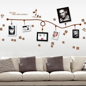 Brown Photo Flower Vine Wall Decal Home Sticker Paper Removable Living Dinning Room Bedroom Kitchen Art Picture Murals DIY Stick Girls Boys kids Nursery Baby Playroom Decoration