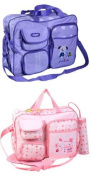 XXL Set of 3Blue Baby Changing Bag for on the go Selection of Colours