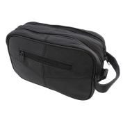 Continental Leather Toiletry and Cosmetic Bag