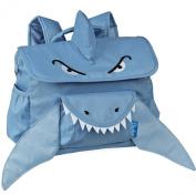 Bixbee Blue Animal Shark Pack Horizontal Design Boys Backpack Small