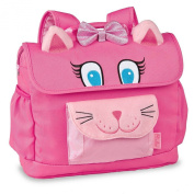 Bixbee Pink Animal Kitty Pack Horizontal Design Girls Backpack Small