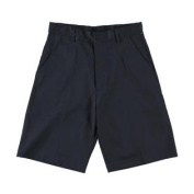 Girls Boys Pleated Front Shorts w/ Hook and Eye Closure (2T - 20) by Universal Schoo- Sku:Staniu680NAV14; Colour:NAVY; Size:14 14