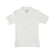 Girls French Toast Unisex S/S Knit Polo Shirt (Sizes 8 - 20) - white, 8
