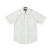 Girls French Toast Big Boys' S/S Unisex Button-Down Shirt (Sizes 8 - 20) - white 18