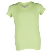 Girls` VNeck Cap Sleeve Tennis Top Yellow