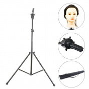 Rayinblue Tripod Adjustable Manikin Mannequin Head Holder Hairdressing Training Stand New