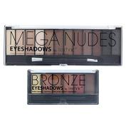 Technic Mega Nudes & 6 Bronze Eye Shadow Palette Set