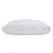 Standard White 300 Thread Count Dobby Stripe Down and Memory Foam Layer Pillow