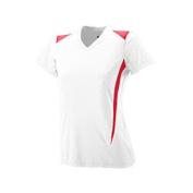 Girls Premier Crew - 1056 - White/Red - L