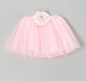 Pink Flower Tutu Skirt