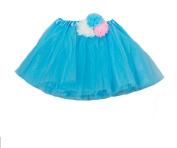 Turquoise Multi Flower Skirt