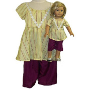 Matching Short Set 46cm Girl and Dolls Size 10 1/2 For Girls