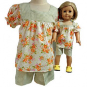 Matching Girl and Dolls Short Cotton Shorts Size 6