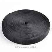 28m X 2.5cm Nylon Boat Cover Tie-Down Rope for Pontoon Ski Boat Cover Black