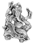 The Hue Cottage Ganesha Statue Handcrafted Metal Lucky Showpiece Wall Hanging Antique Ganpati Figurine Religious Interior Gift Decor
