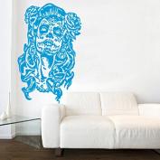 Kult Kanvas Sugar Skull Day of The Dead Wall Sticker Art, Light Blue, 120 x 188 cm