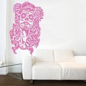 Kult Kanvas Sugar Skull Day of The Dead Wall Sticker Art, Pink, 120 x 188 cm