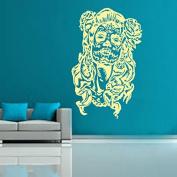 Kult Kanvas Sugar Skull Day of The Dead Wall Sticker Art, Beige, 120 x 188 cm