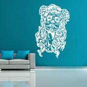 Kult Kanvas Sugar Skull Day of The Dead Wall Sticker Art, White, 120 x 188 cm
