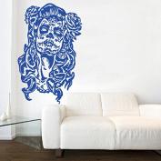 Kult Kanvas Sugar Skull Day of The Dead Wall Sticker Art, Brilliant Blue, 60 x 94 cm