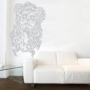 Kult Kanvas Sugar Skull Day of The Dead Wall Sticker Art, Silver, 60 x 94 cm