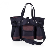 Picnic Time Wine Country Tote with Cheese Service and Corkscrew, Black