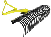 Landscape Rock Rake 3 Point Soil Gravel Lawn Tow Behind Compact Tractor 1.2m York