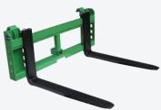 120cm Pallet Fork Attachment with 5.1cm Trailer Receiver Hitch for John Deere Loader