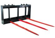 Titan Skid Steer HD Frame Attachment, 3 110cm Hay Bale Spears 1810kg kubota bobcat
