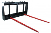 Titan Skid Steer HD 2 100cm Bale Spears Attachment 1810kg capacity kubota bobcat